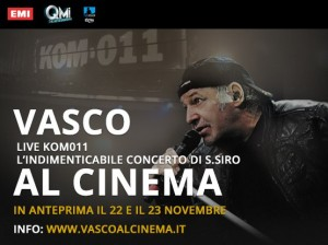 Vasco Live Kom 011 al cinema Incassi