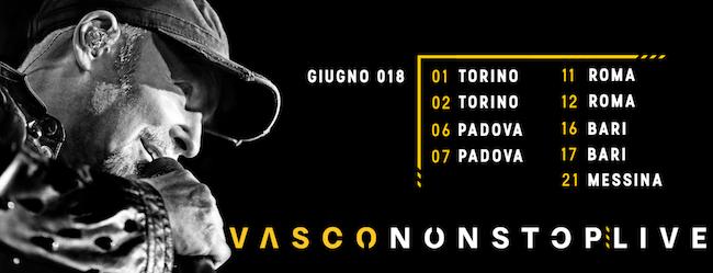 Locandina Vasco Live 2018