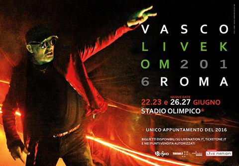 Vasco Live Kom 2016 Roma – 22 & 23 Giugno